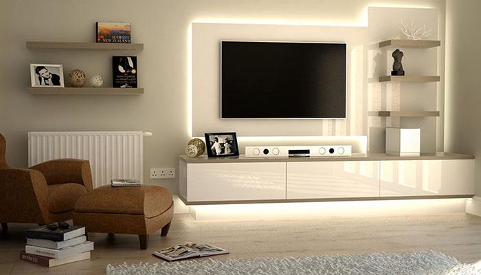 مجموعة من أجمل تصاميم طاولات التلفزيون تصفحيها معنا